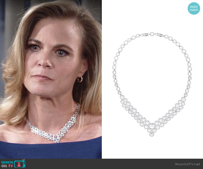 Swarovski Creativity Necklace worn by Phyllis Newman (Gina Tognoni) on The Young & the Restless