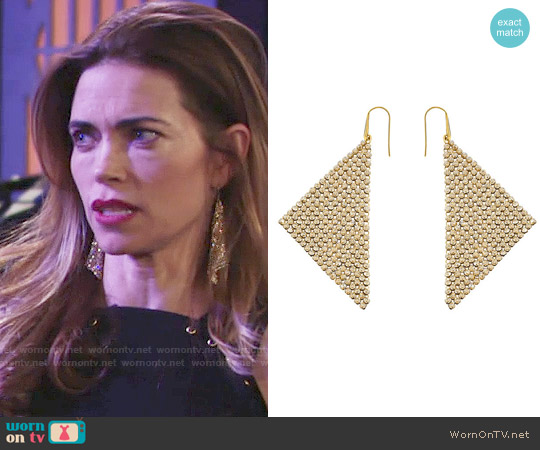Swarovski Fit Pierced Earrings worn by Victoria Newman on The Young & the Restless