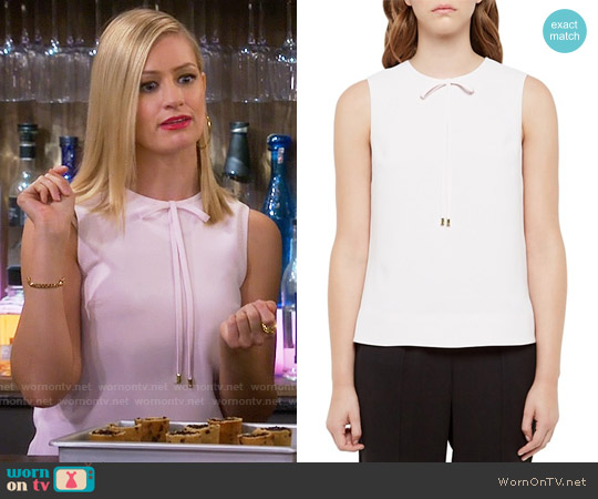 Ted Baker Natalle Bow-Detail Top worn by Caroline Channing (Beth Behrs) on 2 Broke Girls