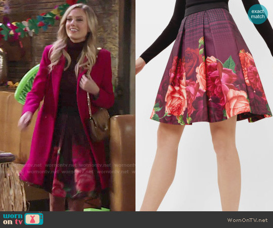 Ted Baker Klira Skirt worn by Abby Newman (Melissa Ordway) on The Young & the Restless