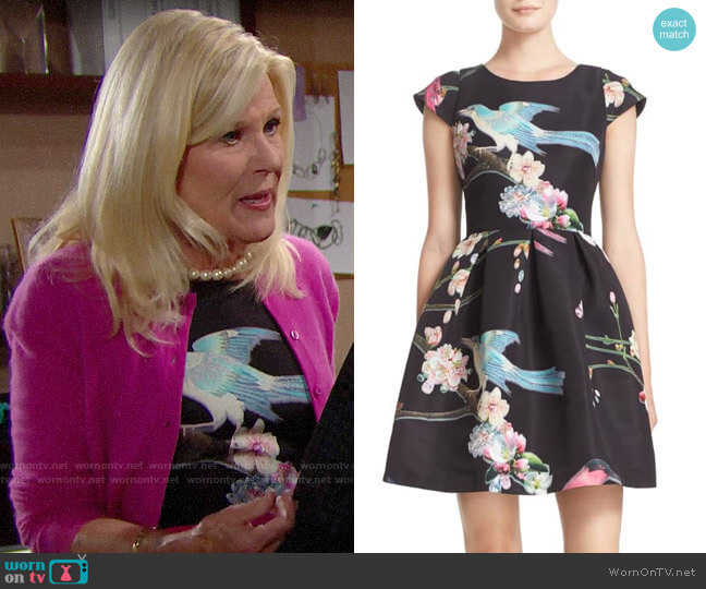 Ted Baker Zaldana Dress worn by Pamela Douglas (Alley Mills) on The Bold & the Beautiful