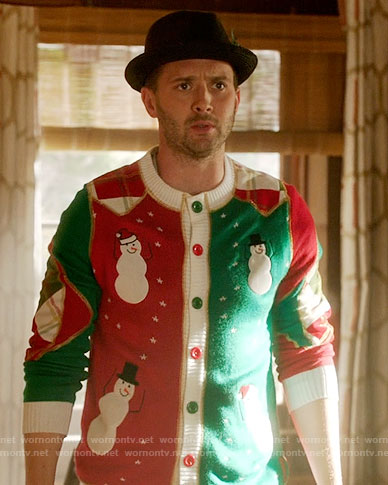 Toby's Christmas sweater on Scorpion