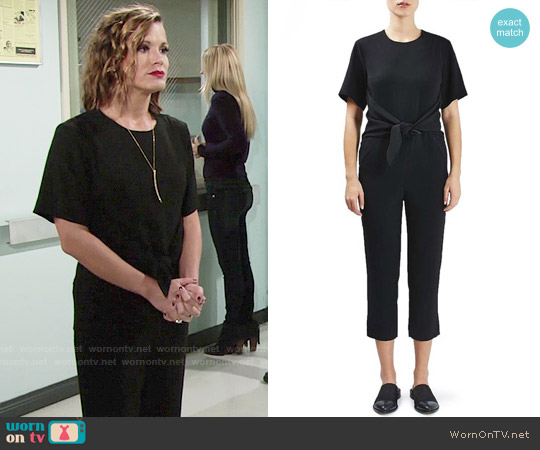 Topshop Tie Front Jumpsuit worn by Melissa Claire Egan on The Young & the Restless