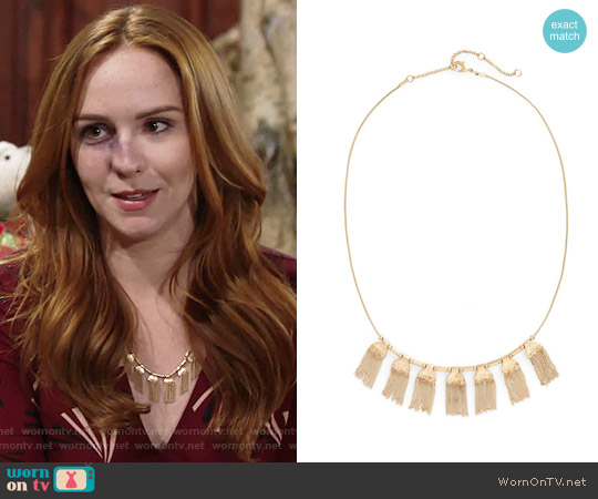 Treasure & Bond Chain Fringe Necklace worn by Mariah Copeland on The Young & the Restless