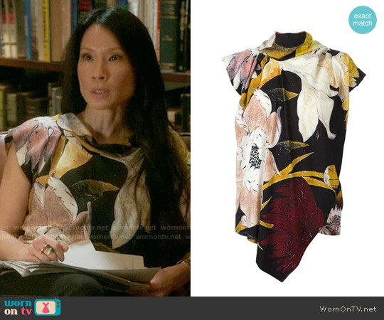 Vivienne Westwood Anglomania Printed Top worn by Lucy Liu on Elementary