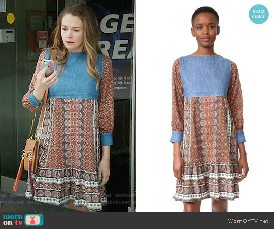 Warm Love Street Dress worn by Sutton Foster on Younger
