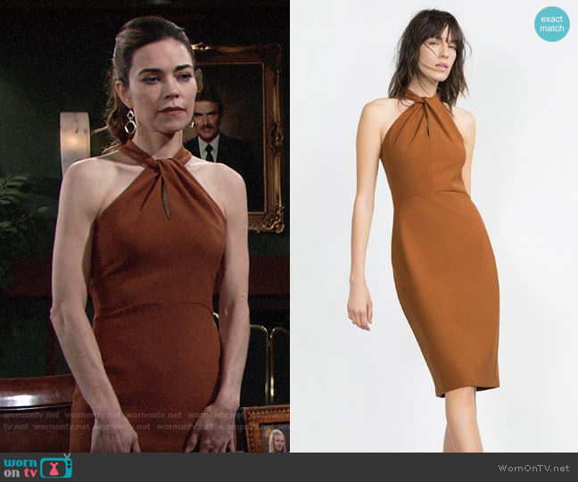 Zara Long Tube Dress worn by Victoria Newman (Amelia Heinle) on The Young & the Restless