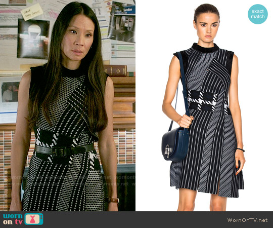 3.1 Phillip Lim Jacquard Tank Dress worn by Joan Watson (Lucy Liu) on Elementary