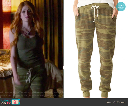 Printed Eco Fleece Jogger Pants by Alternative worn by Clary Fray on Shadowhunters