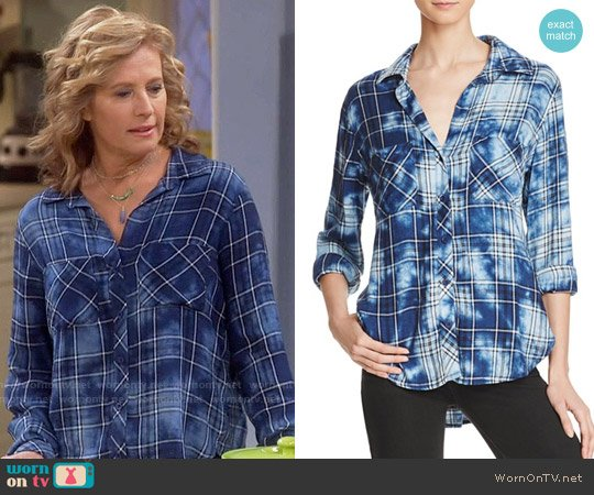 Bella Dahl Two Pocket Plaid Button Down Shirt worn by Vanessa Baxter (Nancy Travis) on Last Man Standing
