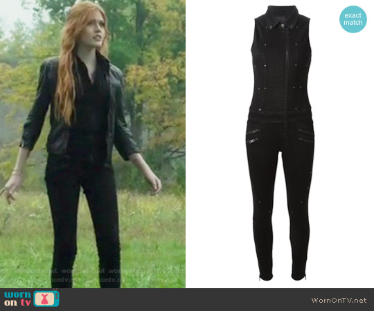 'De-Krapez' Denim Jumpsuit by Diesel worn by Katherine McNamara on Shadowhunters