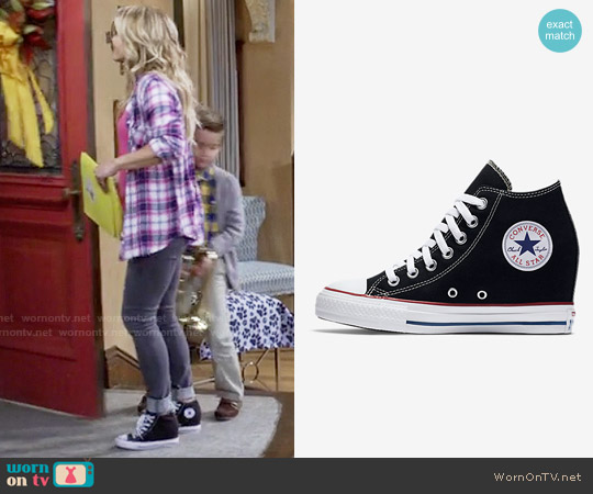 Converse Chuck Taylor All Star Lux Wedge Mid Sneaker worn by DJ Tanner-Fuller on Fuller House