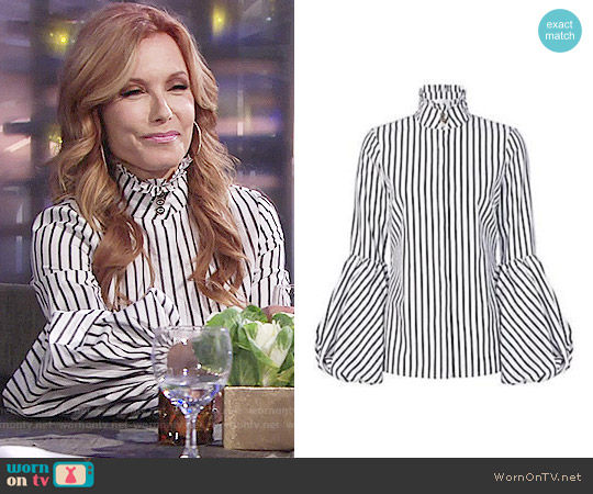 Caroline Constas Jacqueline Striped Top worn by Lauren Fenmore (Tracey Bregman) on The Young & the Restless