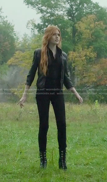 Clary's black jumpsuit on Shadowhunters