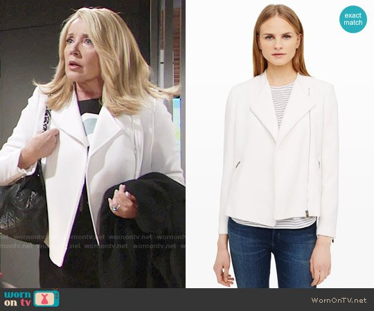 Club Monaco Vikto Jacket worn by Nikki Reed Newman on The Young & the Restless