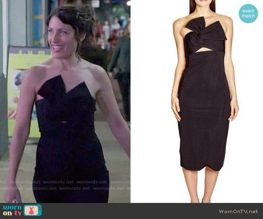 Cushnie et Ochs Strapless Twist Front Dress worn by Abby McCarthy (Lisa Edelstein) on GG2D