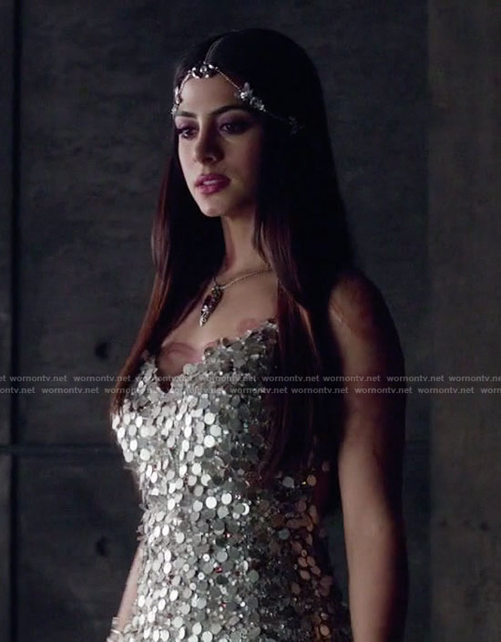 Isabelle's sequin cocktail dress on Shadowhunters