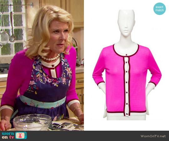 Kate Spade Skyla Cardigan worn by Pamela Douglas (Alley Mills) on The Bold & the Beautiful