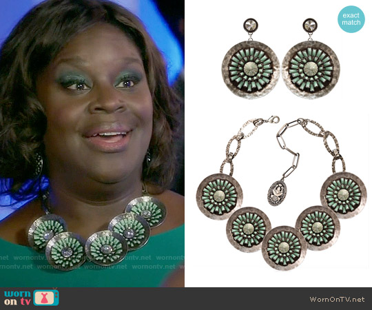 Konplott Archaic Love Oracle Earrings and Necklace worn by Barbara on GG2D