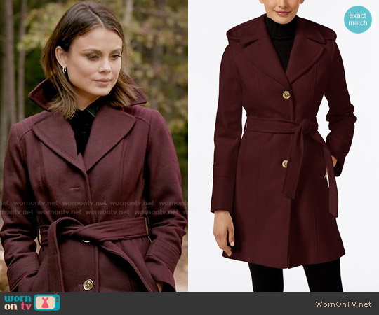 MICHAEL Michael Kors Wool-Blend Hooded Coat worn by Sybil (Nathalie Kelley) on The Vampire Diaries