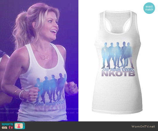 New Kids On The Block The Main Event Ladies Racerback Tank Top worn by Candace Cameron Bure on Fuller House