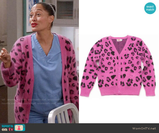 Opening Ceremony Leopard Print Cardigan worn by Tracee Ellis Ross on Blackish