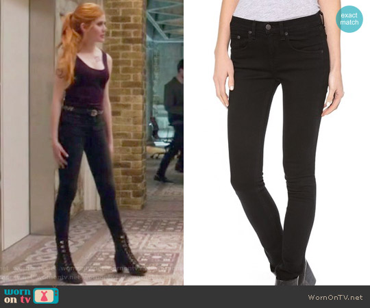 High Rise Skinny Jeans by Rag & Bone/JEAN worn by Clary Fray on Shadowhunters