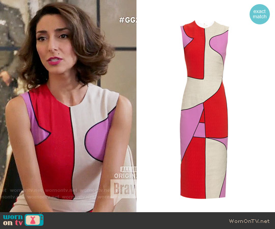 Roksanda Kerrigan Dress worn by Delia (Necar Zadegan) on GG2D