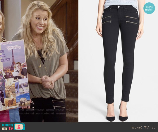 Paige 'Transcend - Edgemont' Ultra Skinny Jeans worn by Jodie Sweetin on Fuller House