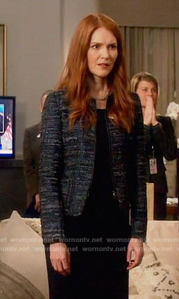 Abby's blue tweed jacket on Scandal