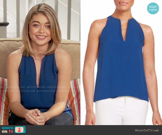 ALC Keaton Top worn by Haley Dunphy (Sarah Hyland) on Modern Family