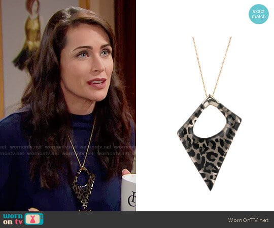Alexis Bittar Asymmetrical Statement Pendant Necklace worn by Rena Sofer on The Bold & the Beautiful