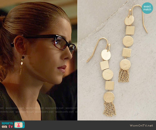 Anthropologie Amarelinha Drops worn by Emily Bett Rickards on Arrow