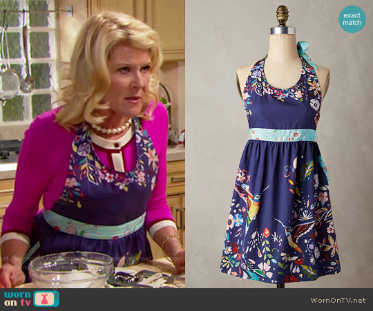Anthropologie Moonbloom Apron worn by Pamela Douglas on The Bold & the Beautiful