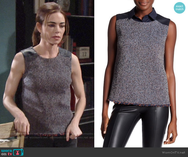 Bailey 44 Hopper Tank worn by Amelia Heinle on The Young & the Restless