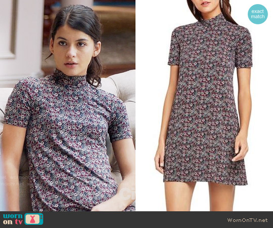 Bcbgeneration Printed Mock Neck Dress worn by Sofia Black D'Elia on The Mick