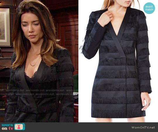 Bcbgmaxazria Anika Fringe Jacket Dress worn by Jacqueline MacInnes Wood on The Bold & the Beautiful