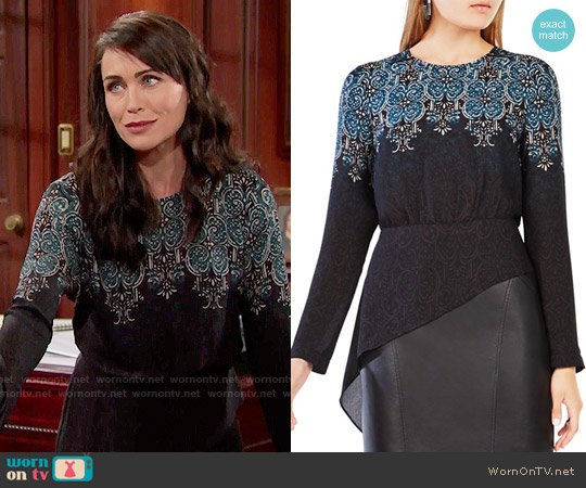 Bcbgmaxazria Eugenie Top worn by Rena Sofer on The Bold & the Beautiful