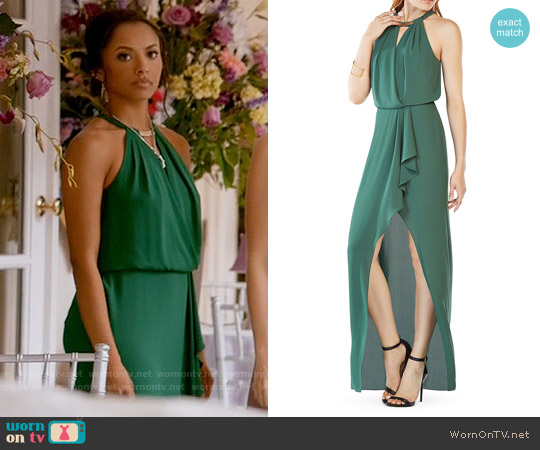 Bcbgmaxazria Hardware Detail Gown worn by Kat Graham on The Vampire Diaries