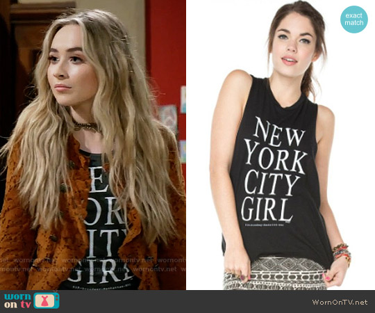 Brandy Melville NYC Girl Tank worn by Sabrina Carpenter on Girl Meets World