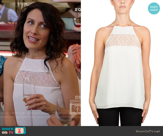 Cami NYC Eva Cami in White worn by Lisa Edelstein on GG2D