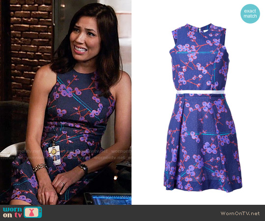 Carven Floral Print Dress worn by Angela Montenegro (Michaela Conlin) on Bones