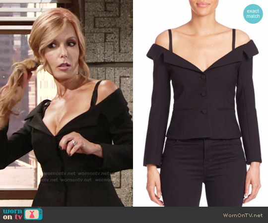 Cinq a Sept Angelina Blazer worn by Tracey Bregman on The Young & the Restless
