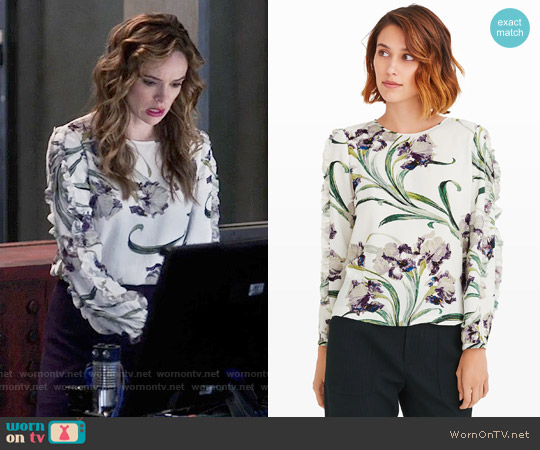 Club Monaco Evangah Top worn by Danielle Panabaker on The Flash