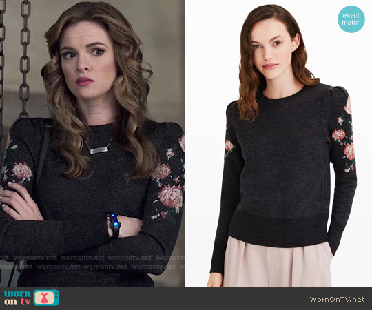 Club Monaco Poella Sweater worn by Caitlin Snow (Danielle Panabaker) on The Flash