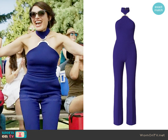 David Koma Cady Jumpsuit worn by Lisa Edelstein on GG2D