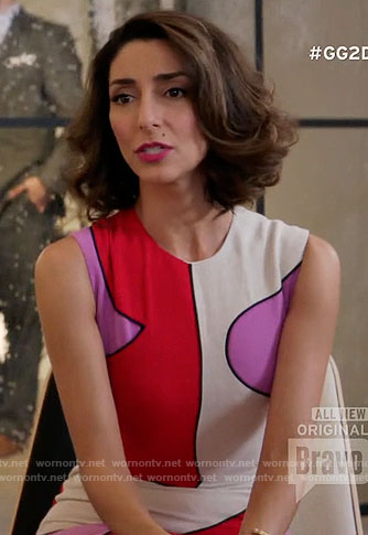 Delia's pink and red colorblock dress on Girlfriends Guide to Divorce