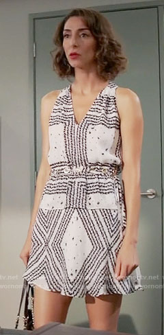 Delia's printed v-neck dress with grommet detail on Girlfriends Guide to Divorce