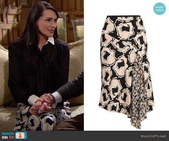 Diane von Furstenberg Posey Skirt worn by Quinn Fuller on The Bold & the Beautiful