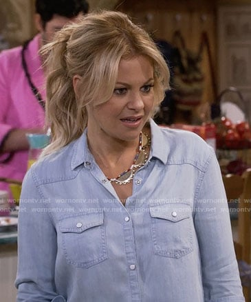 DJ's chambray shirt on Fuller House